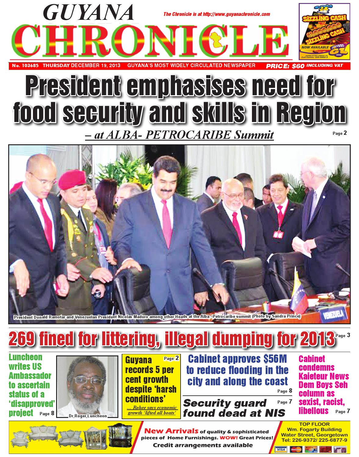"""guyana new paper Guyana: new york-based """"its from the sole"""" (sole of the feet for those in need)  the shocking news devastated his wife, amber (lindsay pulsipher), and their ."""