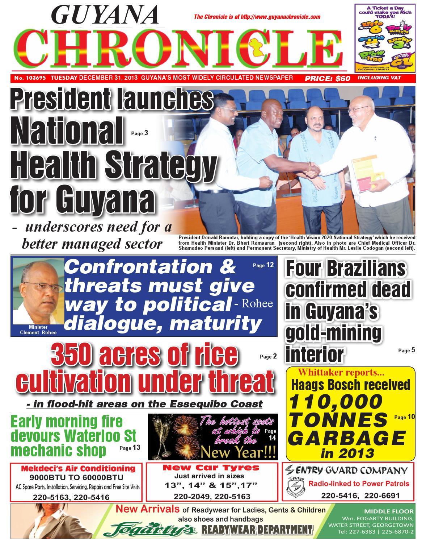 Guyana chronicle 31 12...