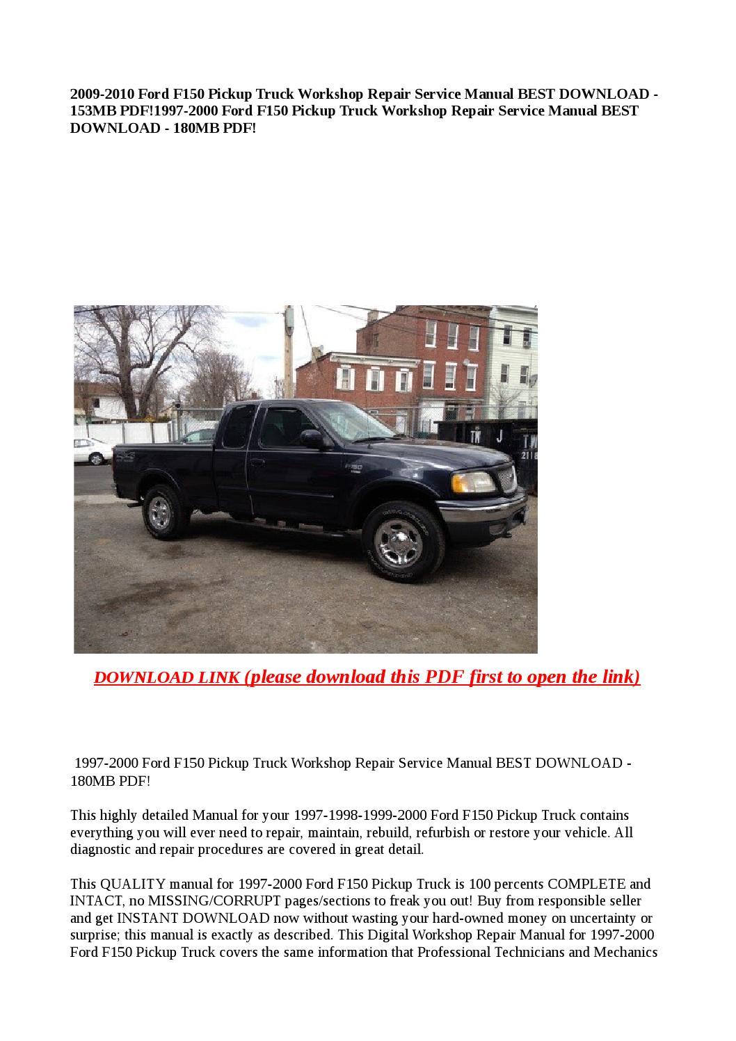 ford  pickup truck workshop repair service