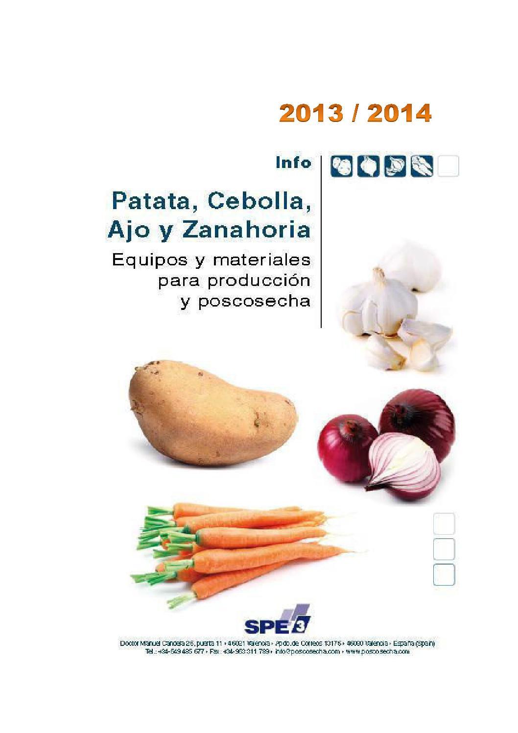 Patata cebolla ajo y zanahoria 2013 2014 serie infos for Maquinaria y utensilios para la produccion culinaria