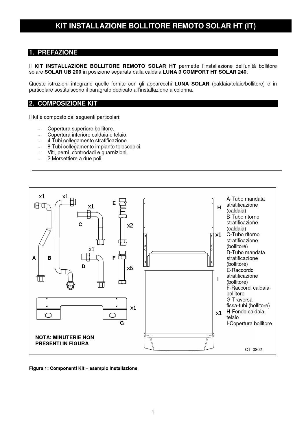 Manuale kit bollitore solare remoto baxi by baxi spa issuu for Istruzioni caldaia baxi