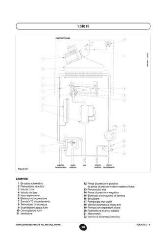 aerazione forzata baxi termostato istruzioni