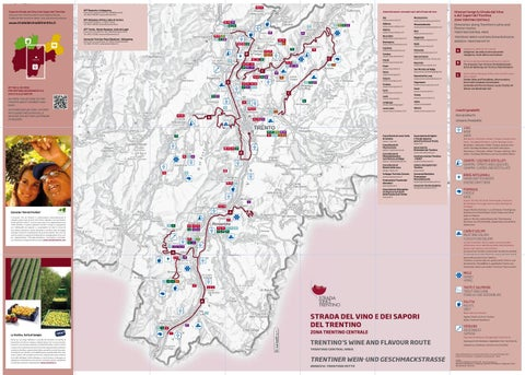 Mappa Trentino centrale - Strada Vino Trentino
