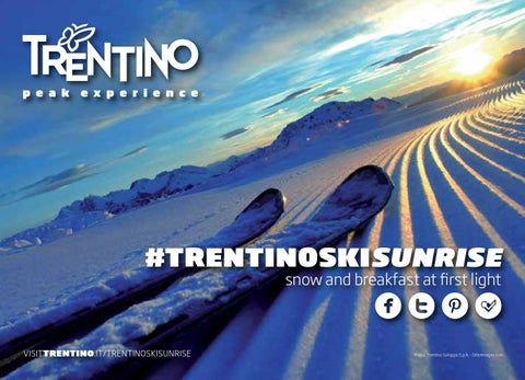 #trentinoskisunrise - Snow and breakfast at first light