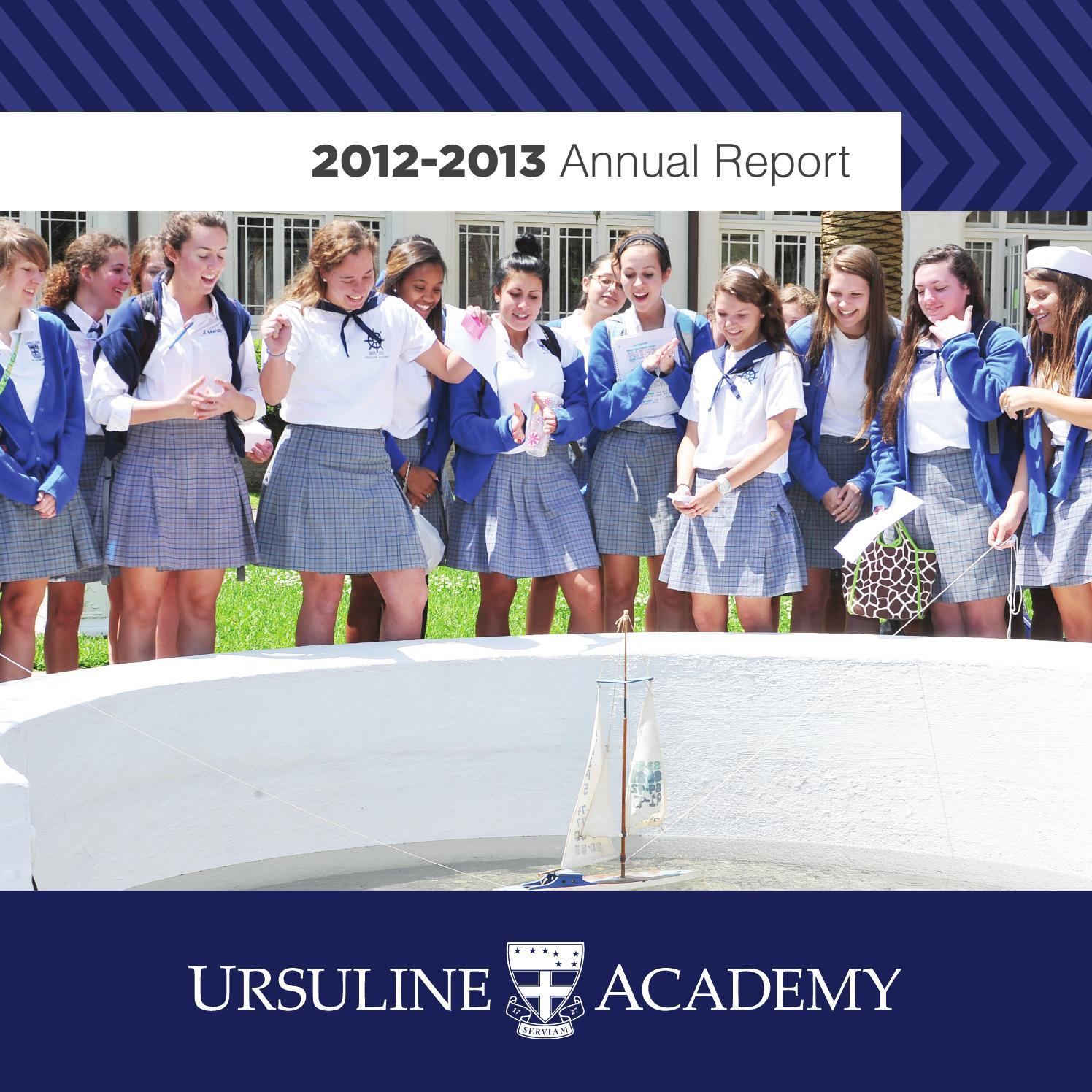 annual report by ursuline academy of new orleans issuu 2012 2013 ursuline academy of new orleans annual report