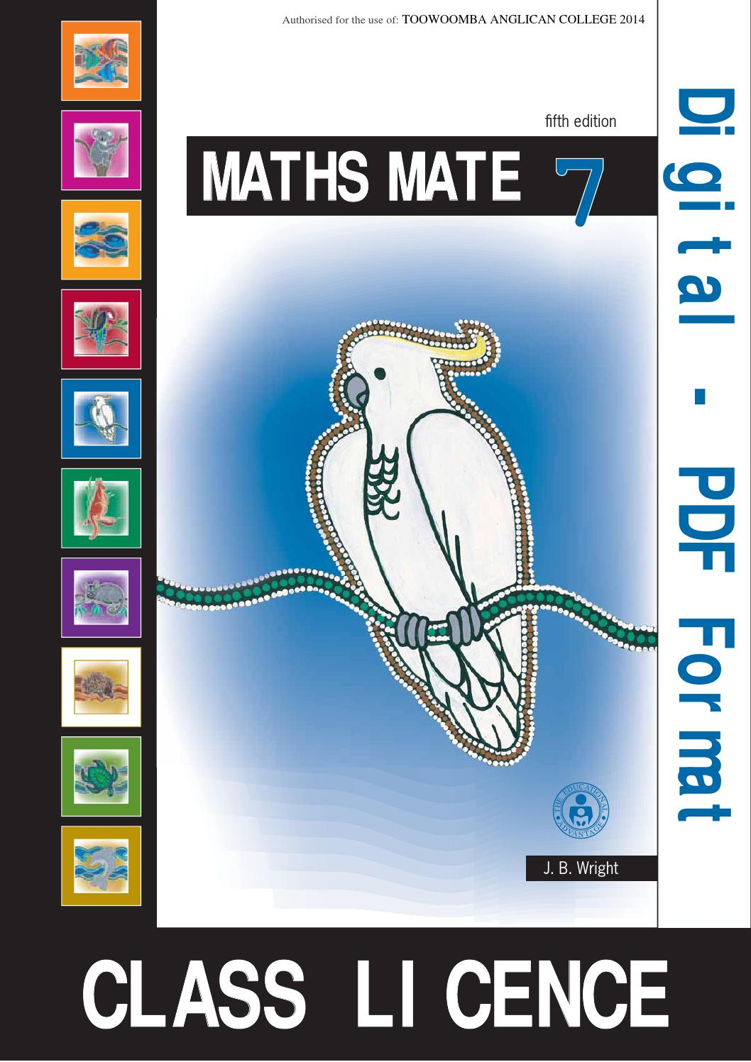 math worksheet : studentpad7classlicence 635249549259375000 by toowoomba anglican  : Math Mates Worksheets