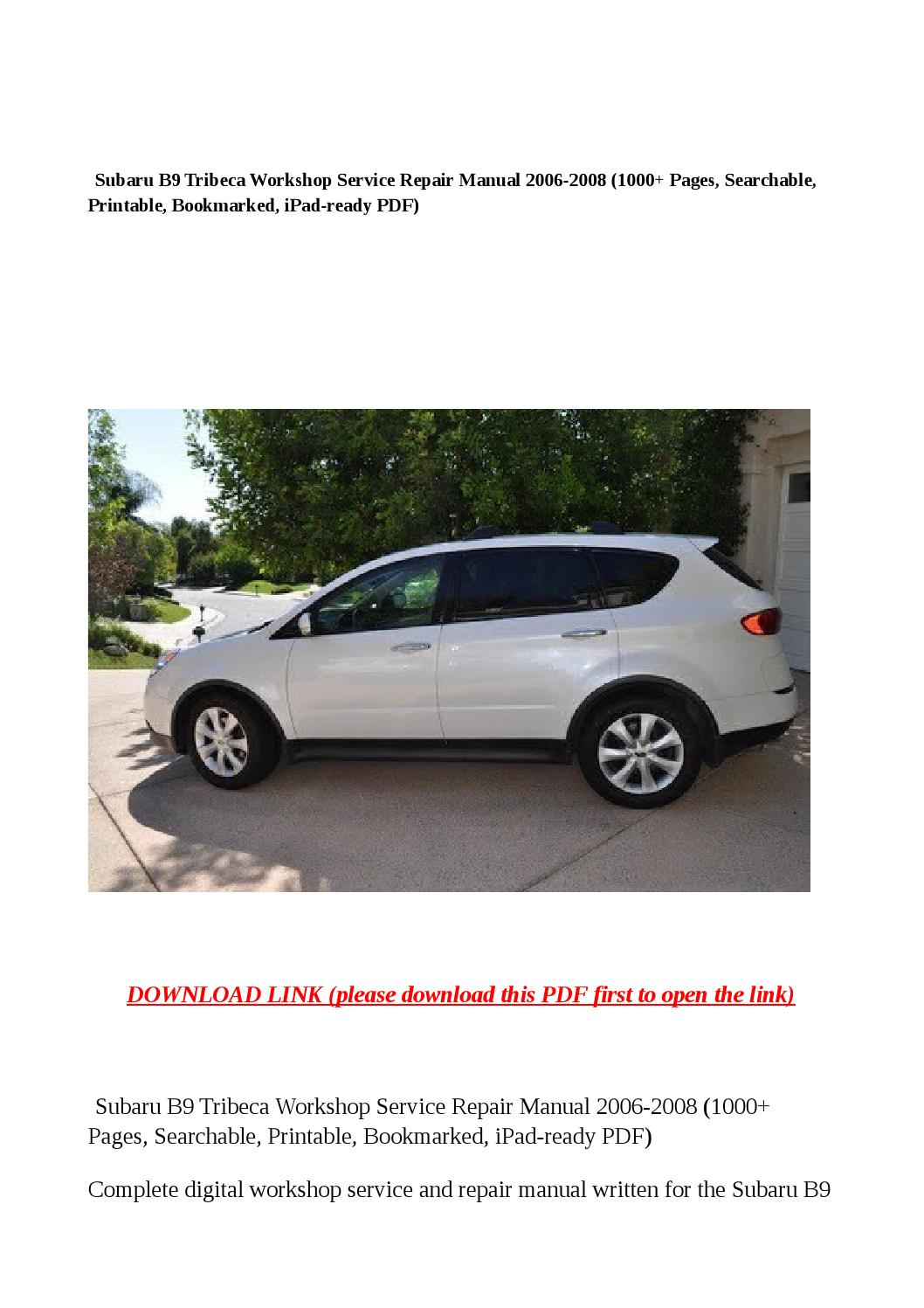 2006 subaru b9 tribeca owner's manual download