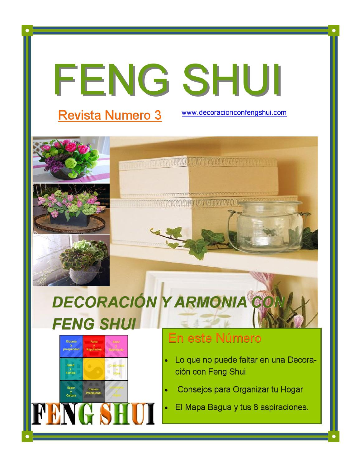 Revista n 3 decoraci n y armon a con feng shui by elisa for Feng shui armonia familiar