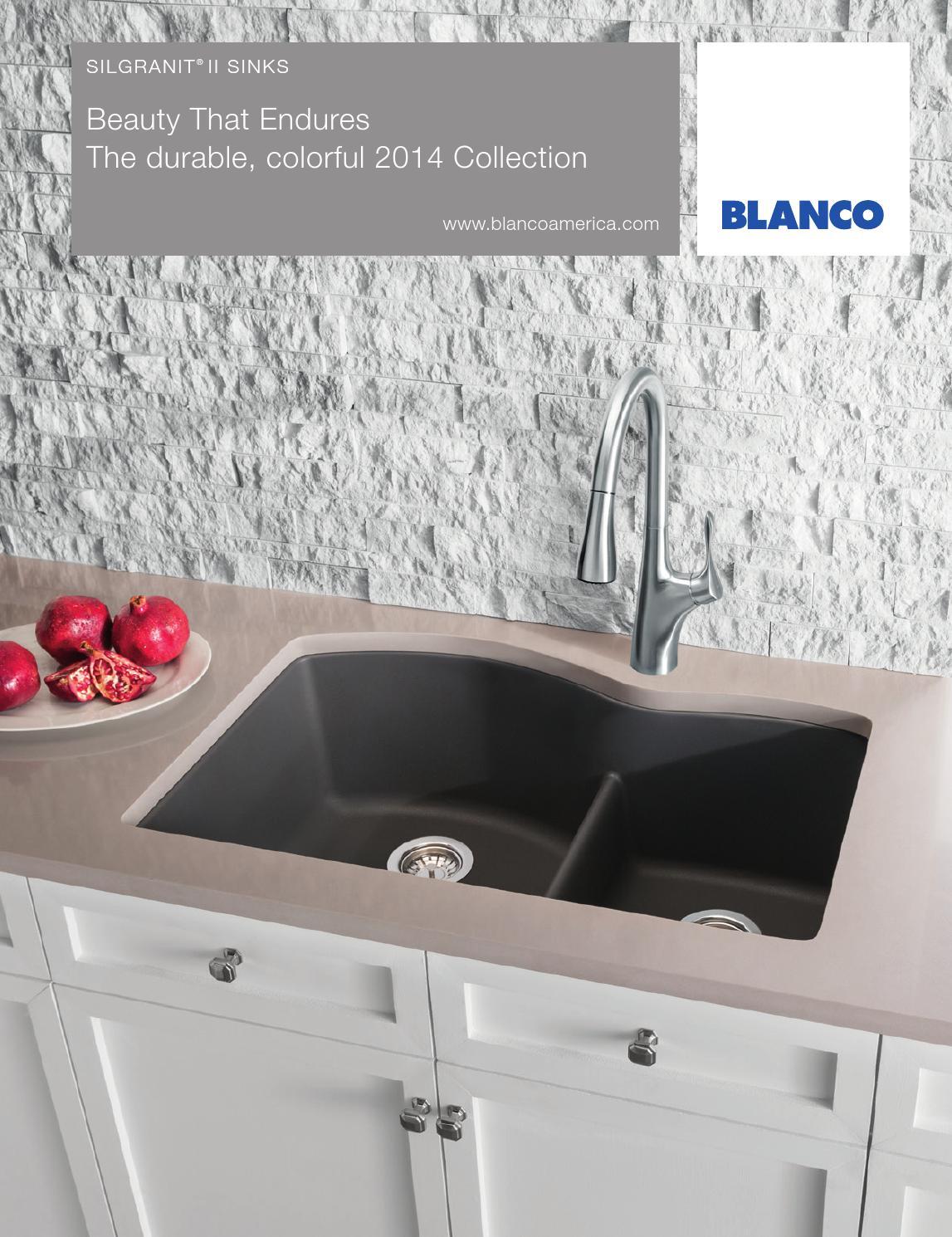 Blanco 2014 Silgranit Sink Brochure By Blanco Issuu