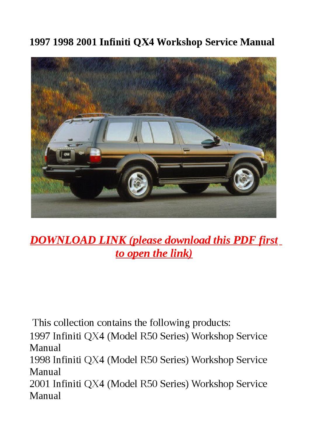 1997 1998 2001 infiniti qx4 workshop service manual by. Black Bedroom Furniture Sets. Home Design Ideas