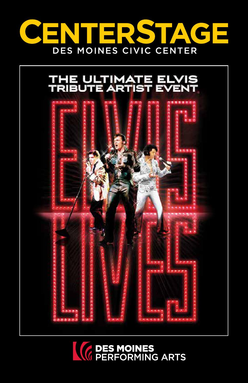 issuu dmpa elvis lives wednesday january 22 2014 by des moines performing arts. Black Bedroom Furniture Sets. Home Design Ideas