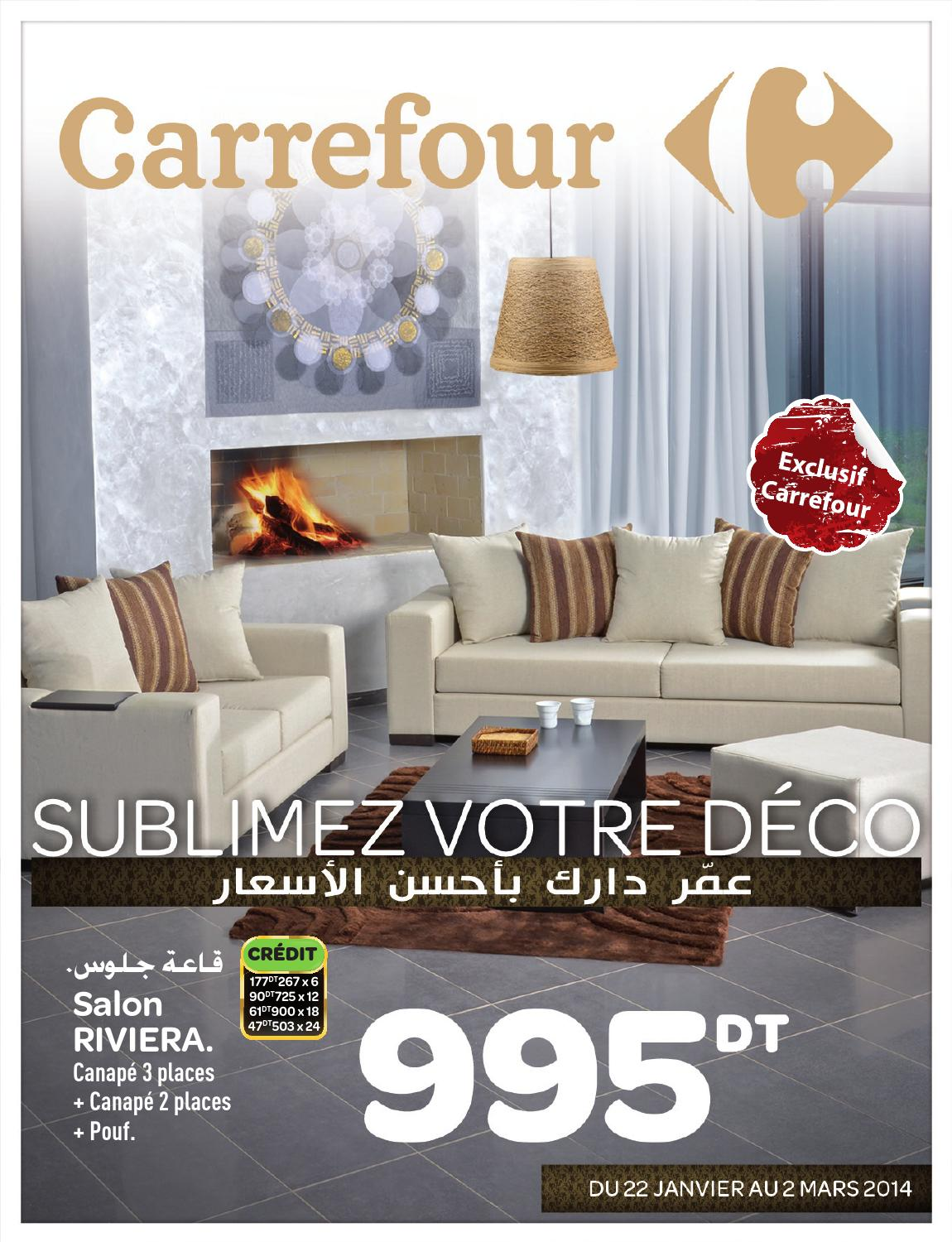 Catalogue carrefour deco by carrefour tunisie issuu for Carrefour meuble salon