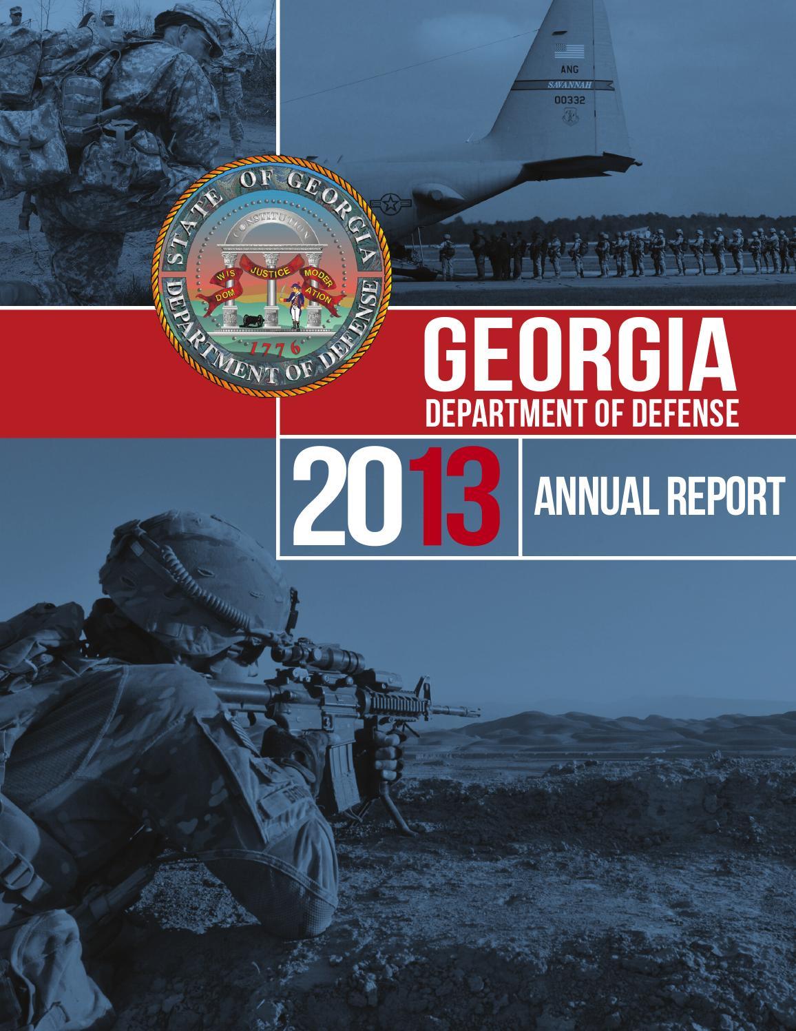 2013 Georgia Department of Defense Annual Report by Georgia National Guard - issuu