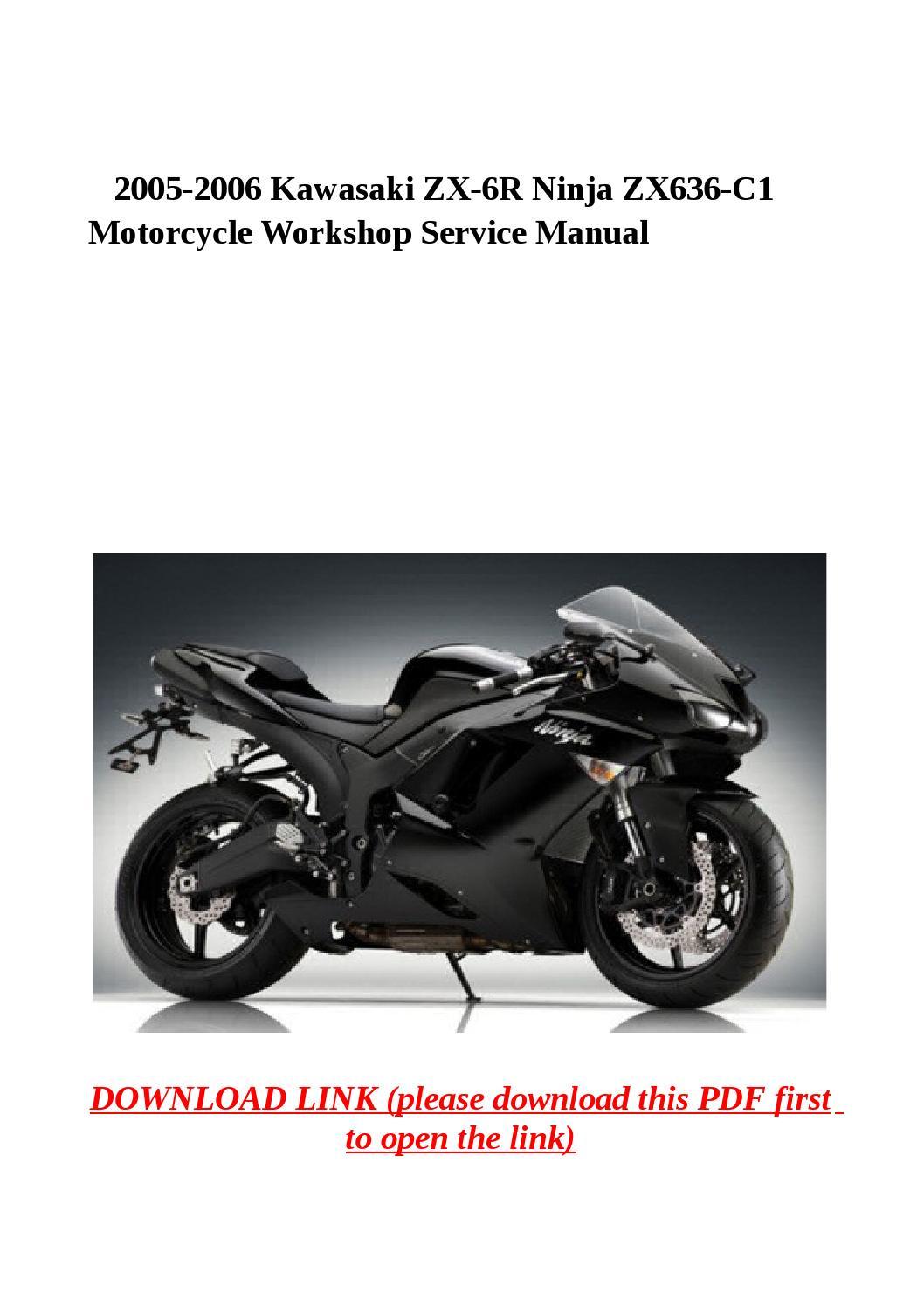 kawasaki zx636 2005 workshop service repair manual