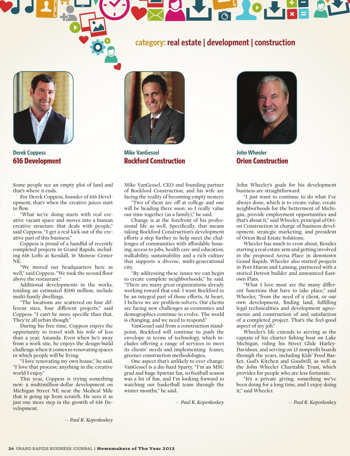 GRBJ - The Newsmakers of the Year - 2013 by Grand Rapids ...