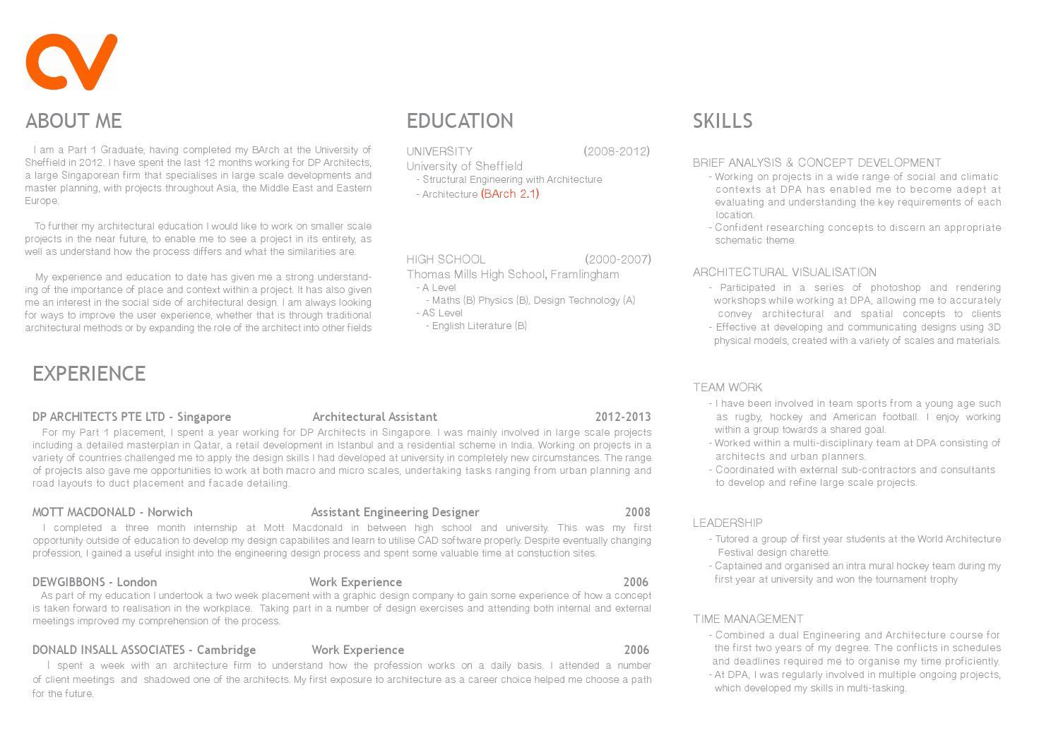 curriculum vitae by charlotte wilson issuu part 1 architecture cv curriculum vitae