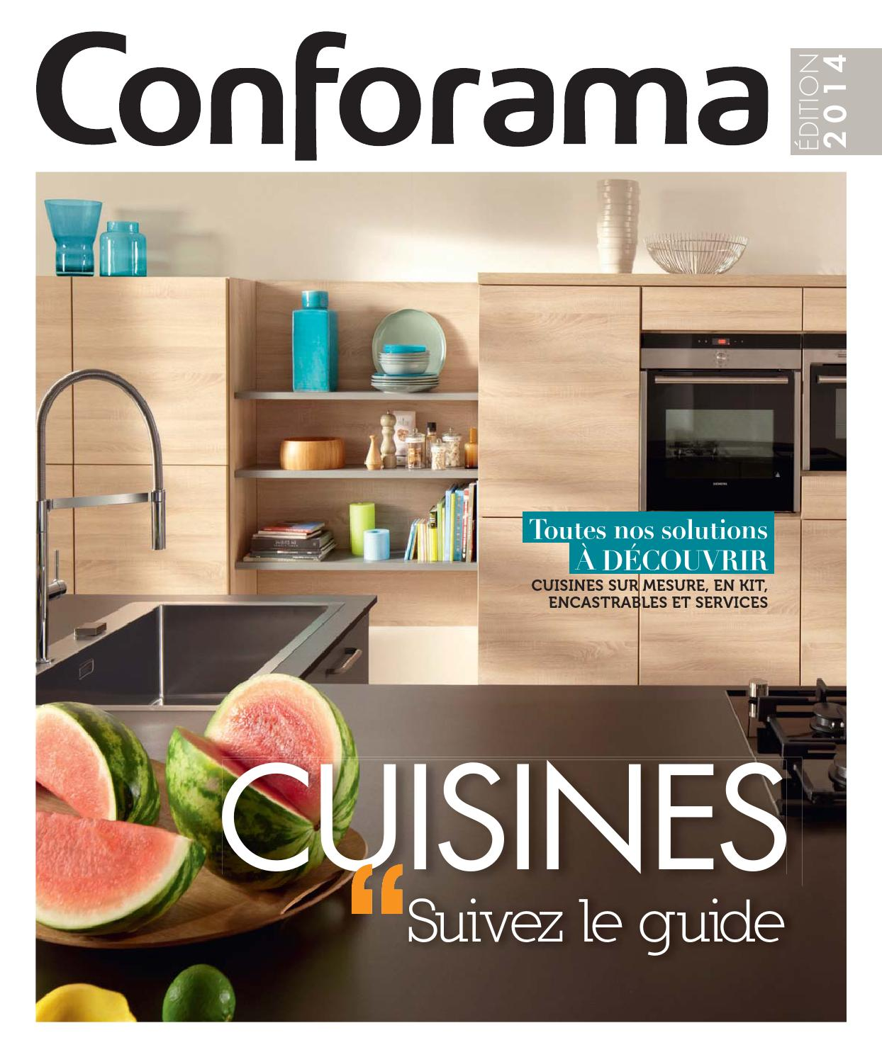 Catalogue conforama guide cuisines 2014 by joe monroe for Catalogue cuisine