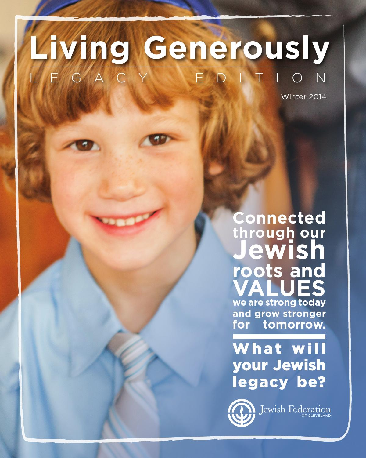 Living generously legacy 2014 by jewish federation of for Generous living