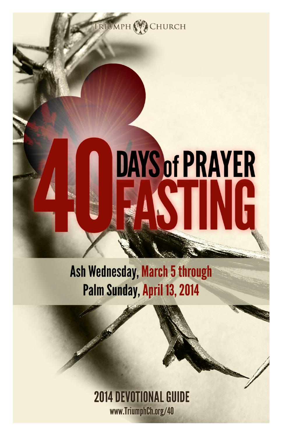 40 days of prayer and fasting guide