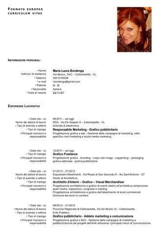 Issuu curriculum vitae by maria laura bordenga for Programmi progettazione interni