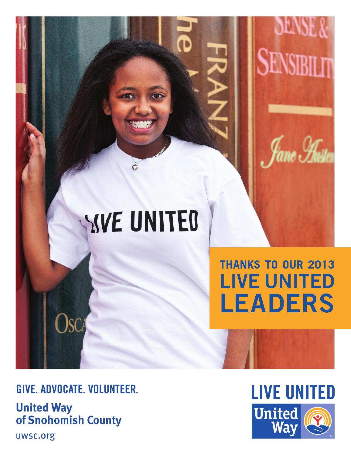 2013 LIVE UNITED Leaders Publication by United Way of Snohomish County ...