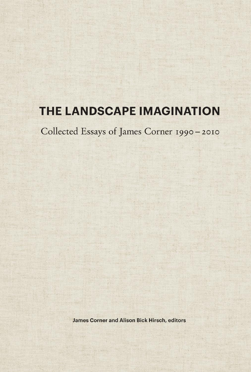 landscape imagination by princeton architectural press