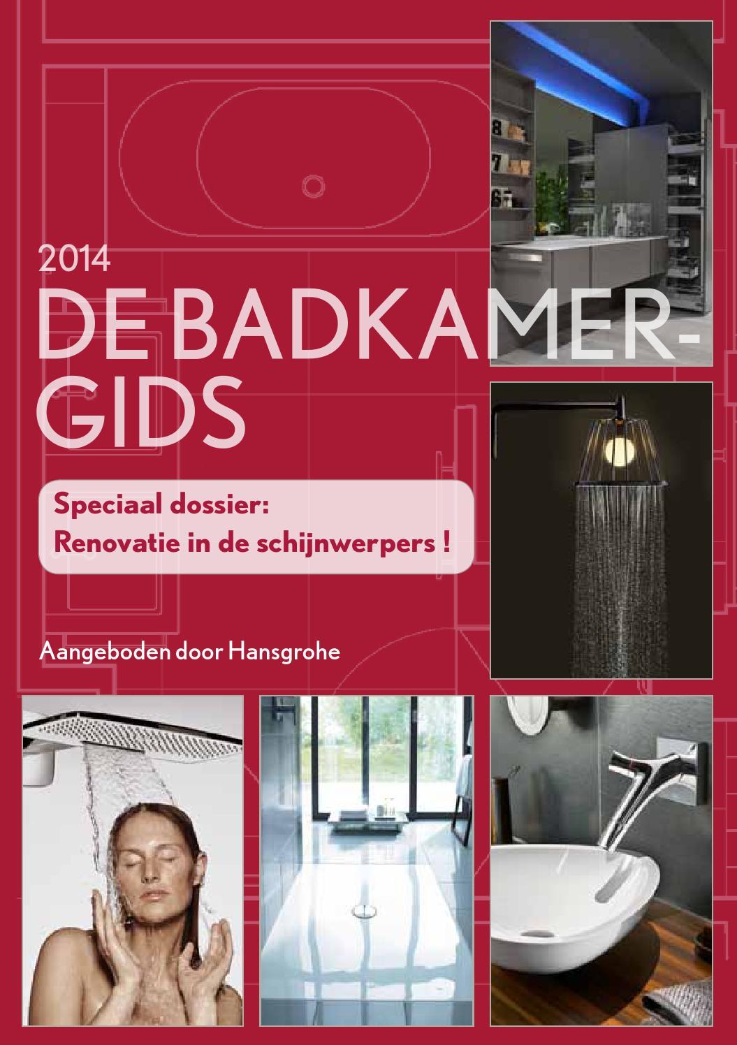 De badkamergids 2014 by hansgrohe nv/sa   issuu