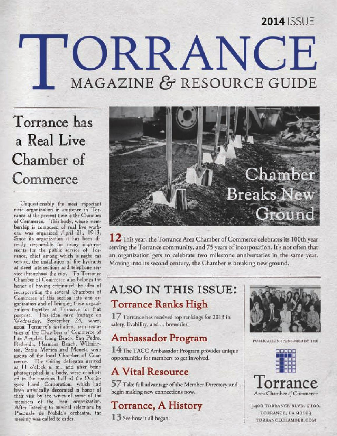 2014 Torrance Magazine Resource Guide By Torrance Area