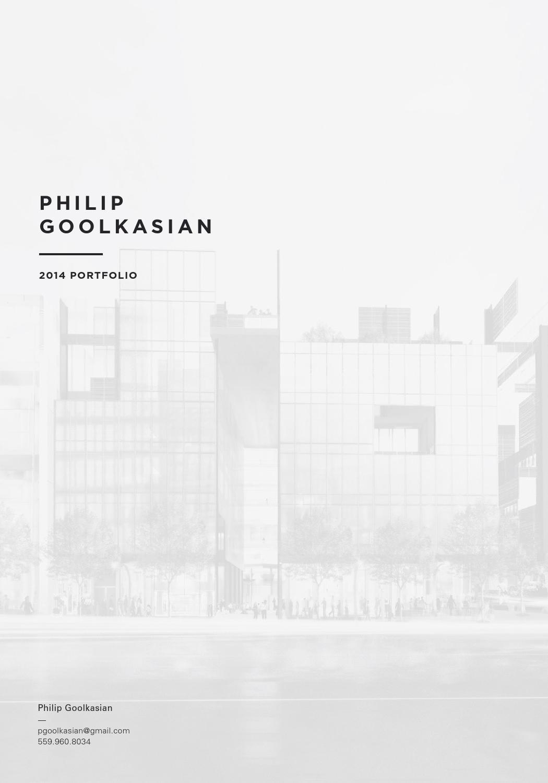 Philip goolkasian 2014 architecture portfolio by philip for Architectural design sample