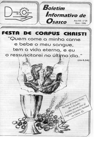 [Bio Diocesano Maio 1996]