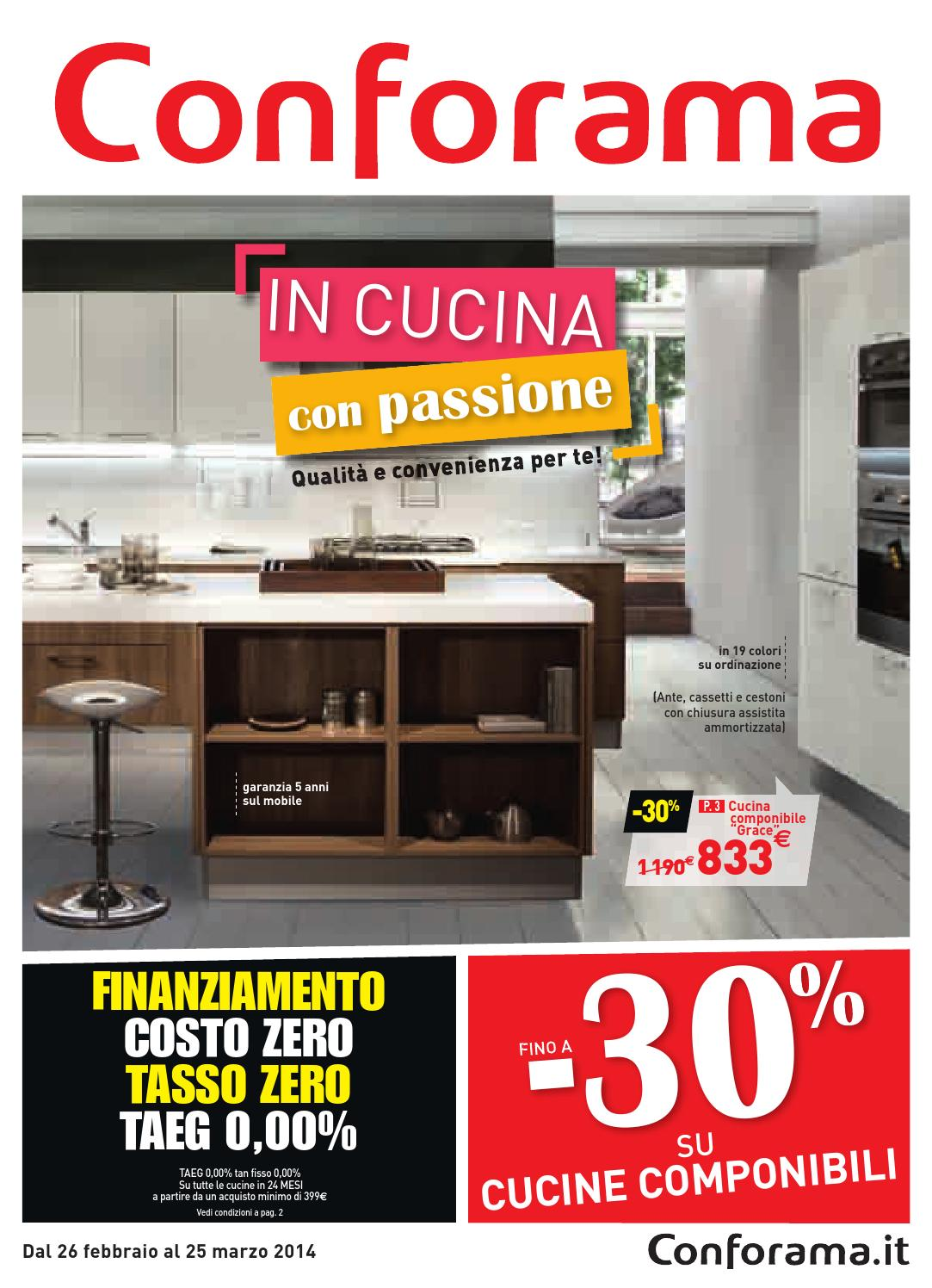 Conforama cucina che passione by mobilpro issuu for Cucine complete in offerta