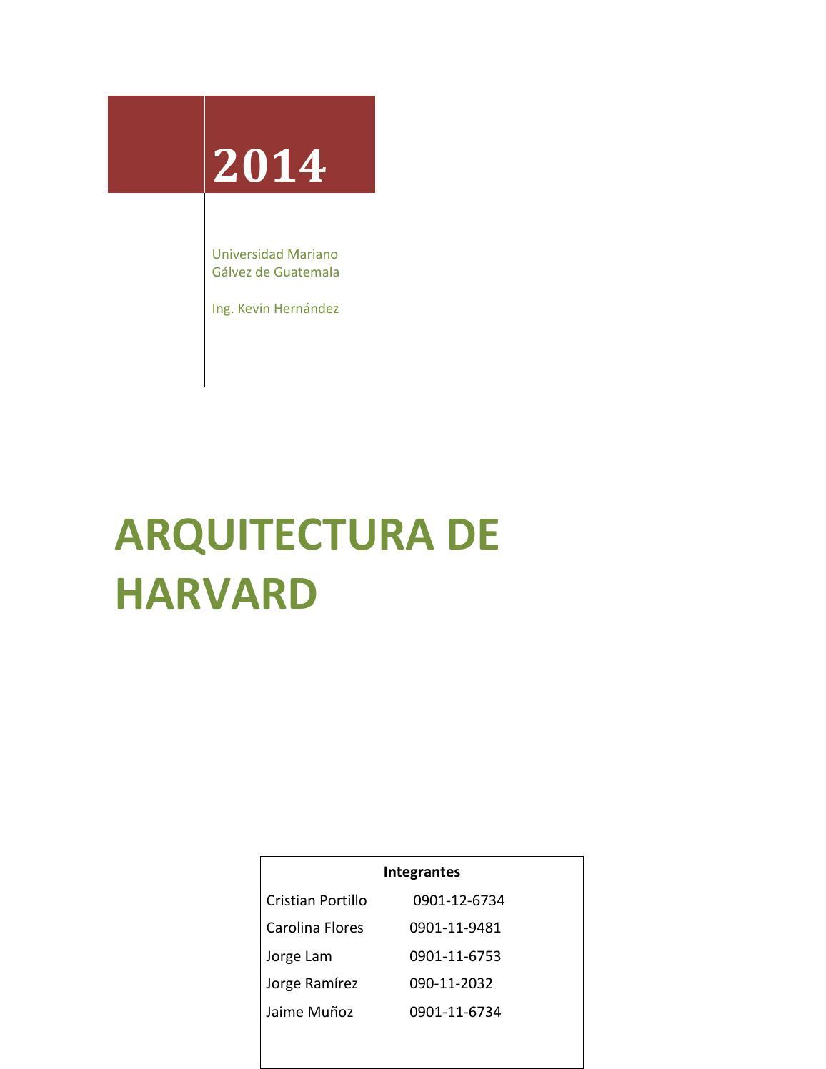 Arquitectura harvard by jaime issuu for Arquitectura harvard