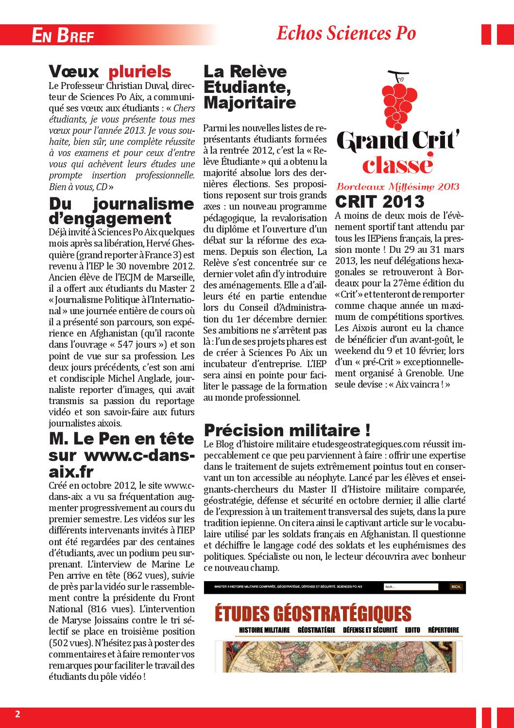newsletter n 9 f vrier 2013 by sciences po aix page 15 issuu. Black Bedroom Furniture Sets. Home Design Ideas
