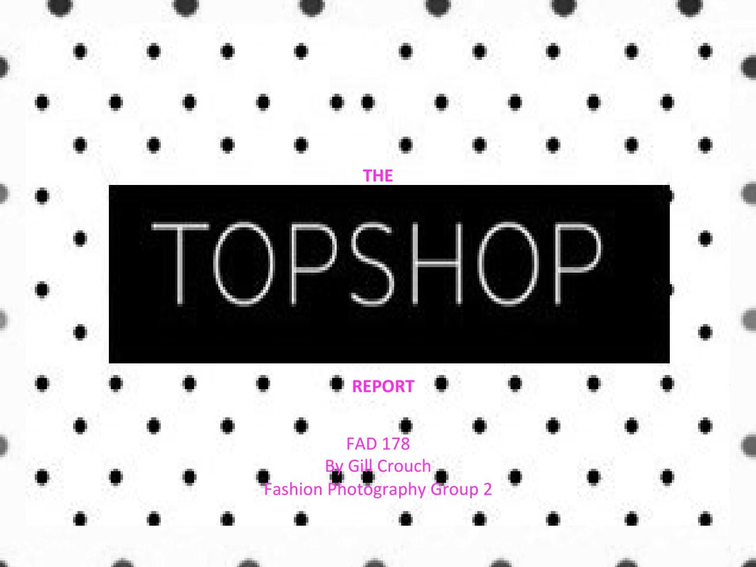topshop marketing plan Marketing plan executive summary this marketing plan examines the case of topshop as a uk's fast-fashion retailer the following marketing plan is structured according the sostac framework.