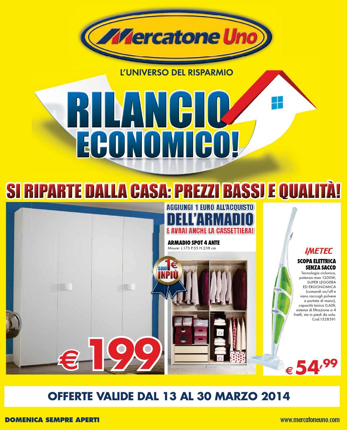 Mercatone uno rilancio economico by mobilpro issuu for Armadio ante scorrevoli mercatone uno