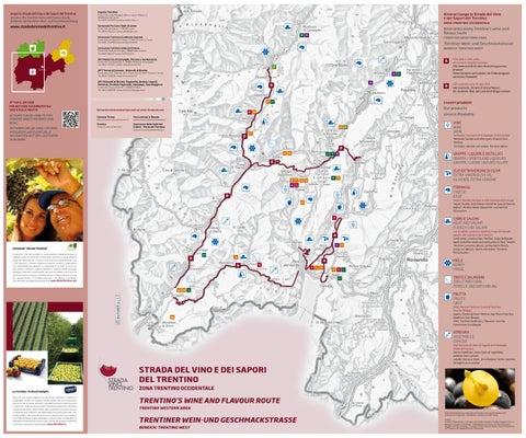 Mappa Trentino Occidentale Strada Vino Trentino