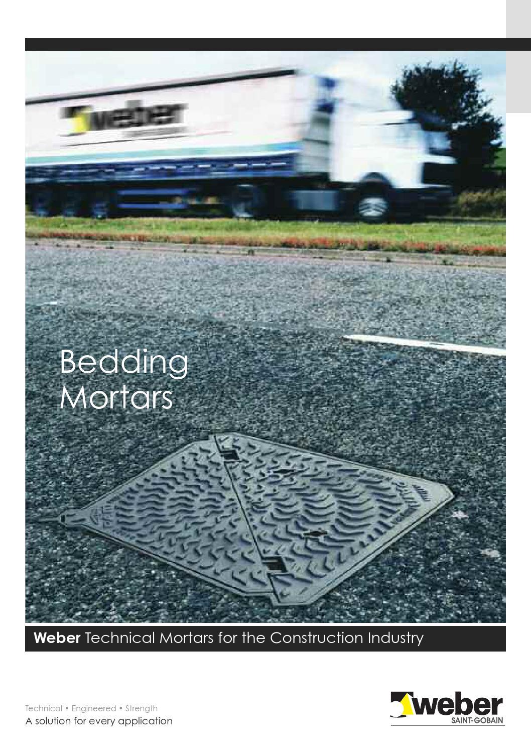 bedding mortars guide by weber issuu. Black Bedroom Furniture Sets. Home Design Ideas