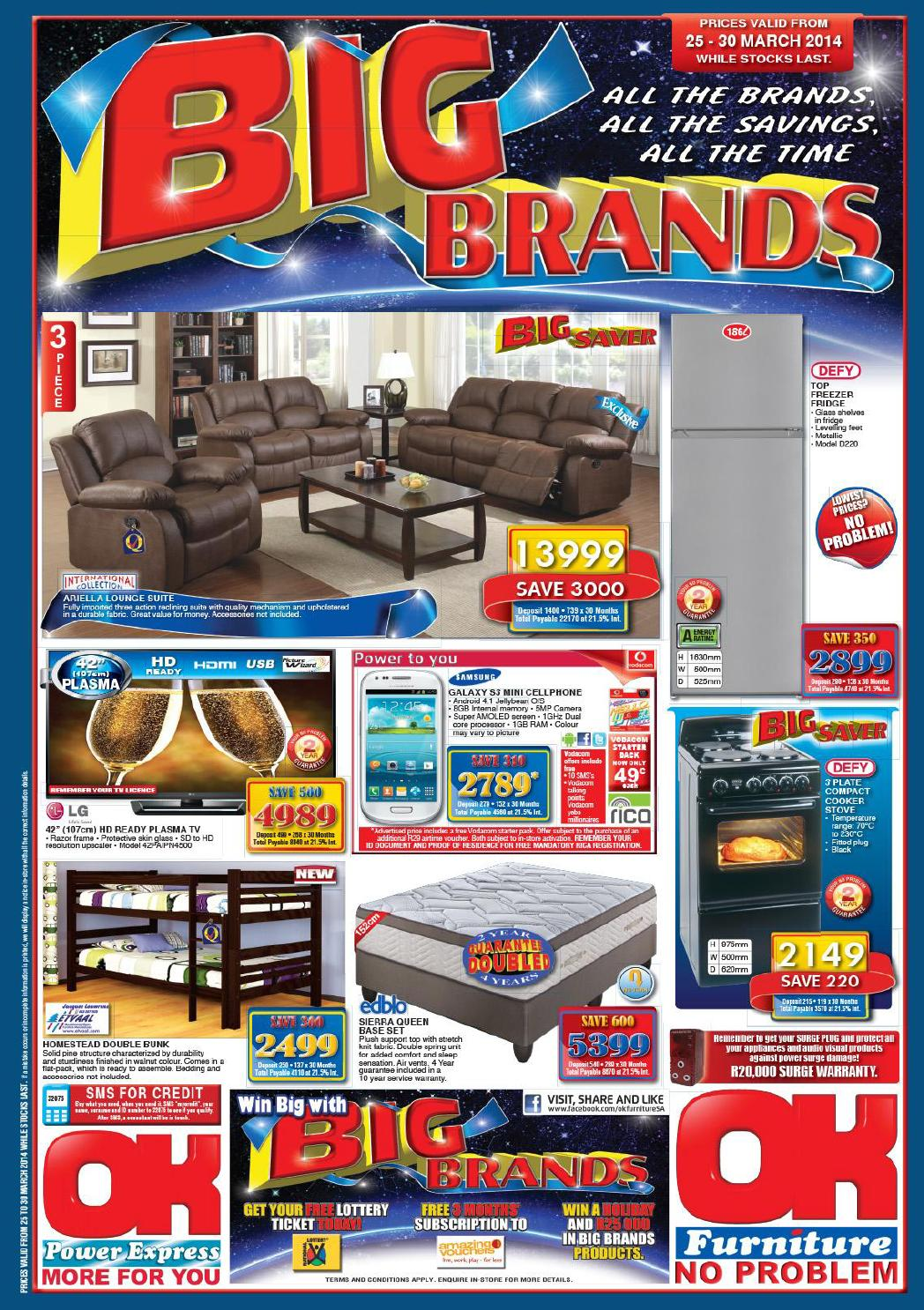 Ok furniture website catalogue vaidity 25 30th march 2014 for Furniture catalogue