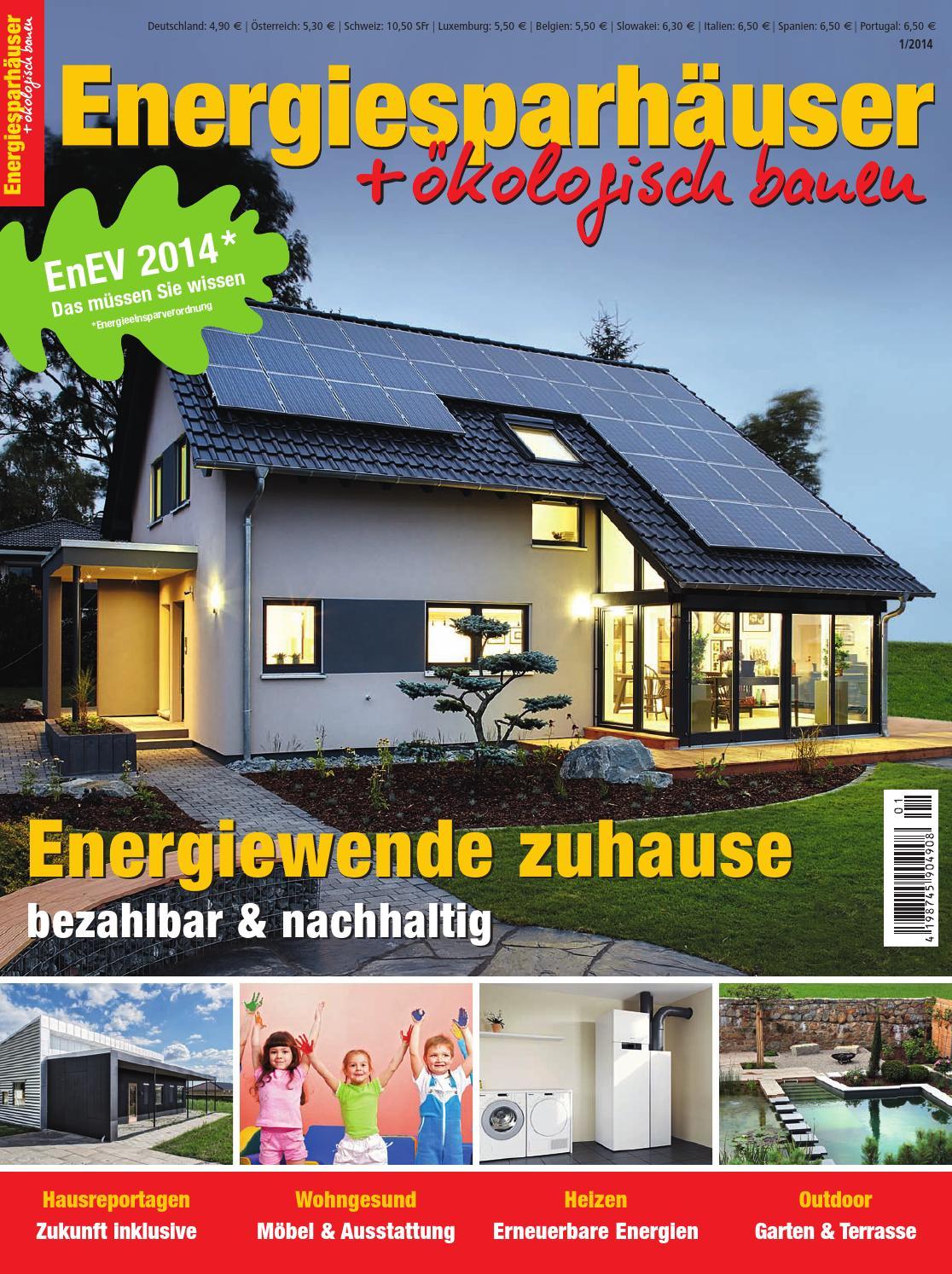 ^ nergiesparhäuser + ökologisch bauen 1/2014 by Family Home Verlag ...