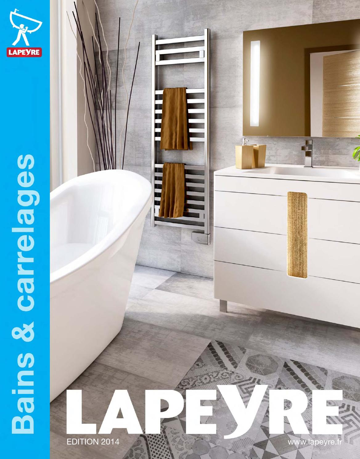 Catalogue lapeyre bains carrelages 2014 by joe monroe issuu for Tabouret salle de bain lapeyre