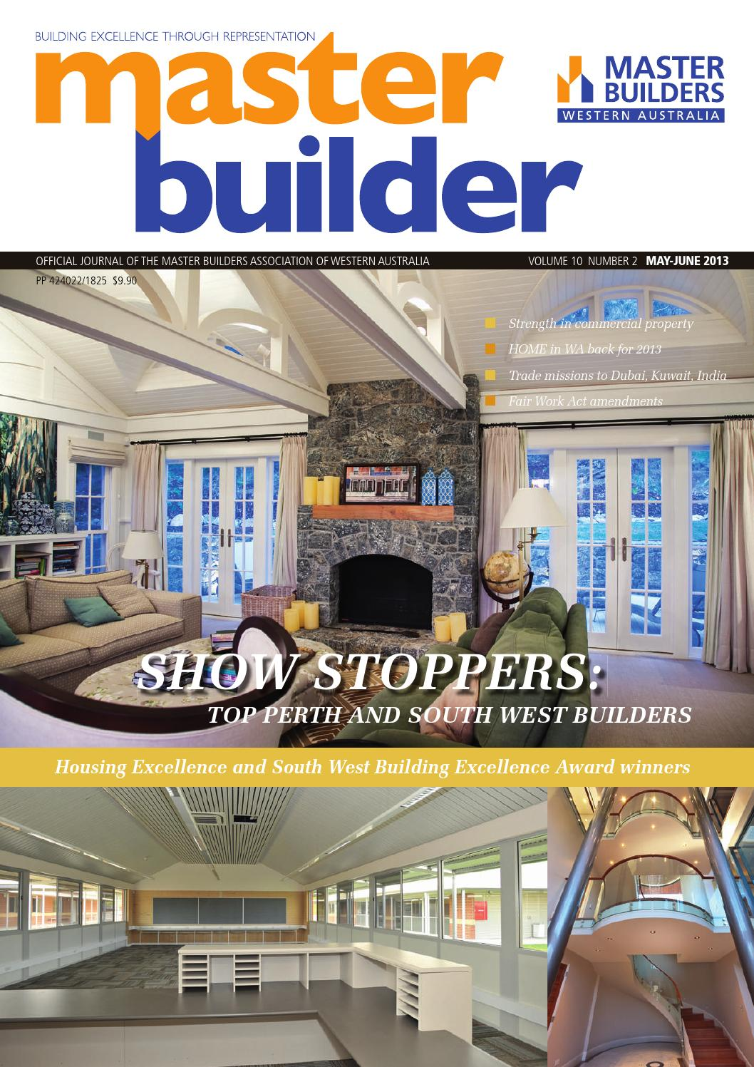 2013 may jun master builders wa magazine by master for Home building magazines