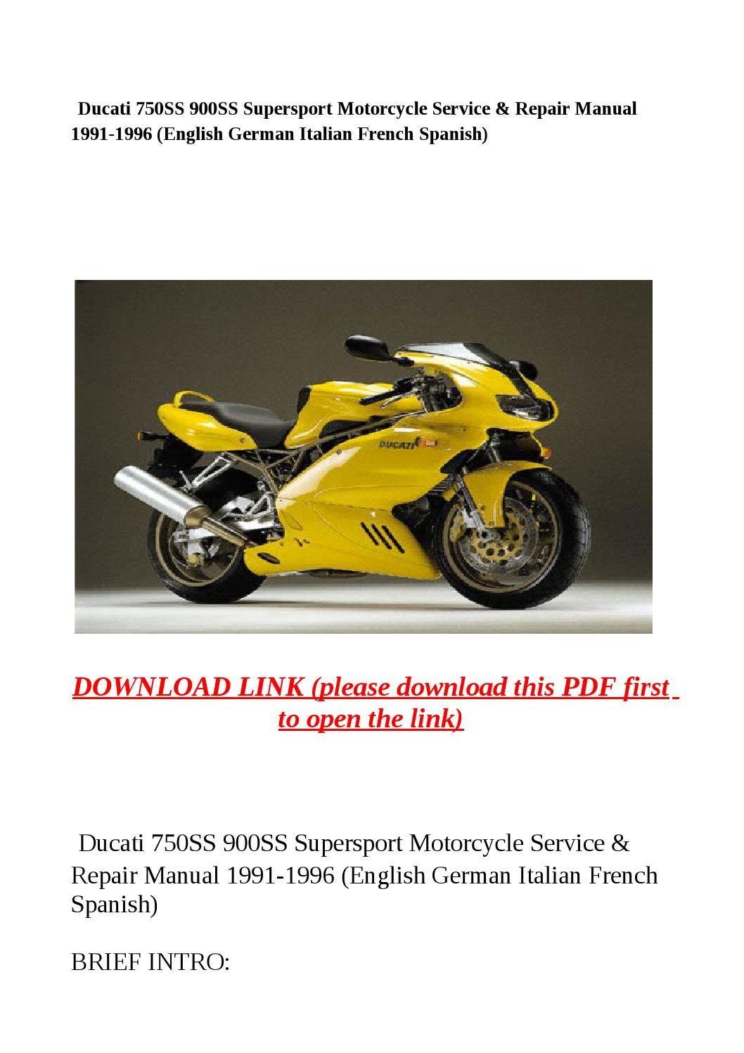 Ducati 750ss 900ss Supersport Motorcycle Service  U0026 Repair