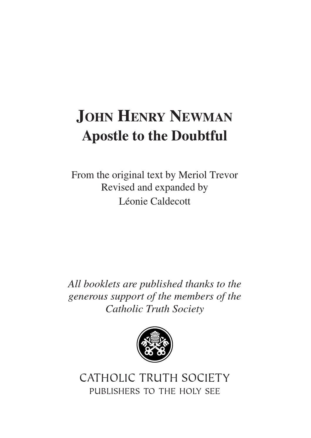 John Henry Newman's 'Definition of a Gentleman' - ThoughtCo