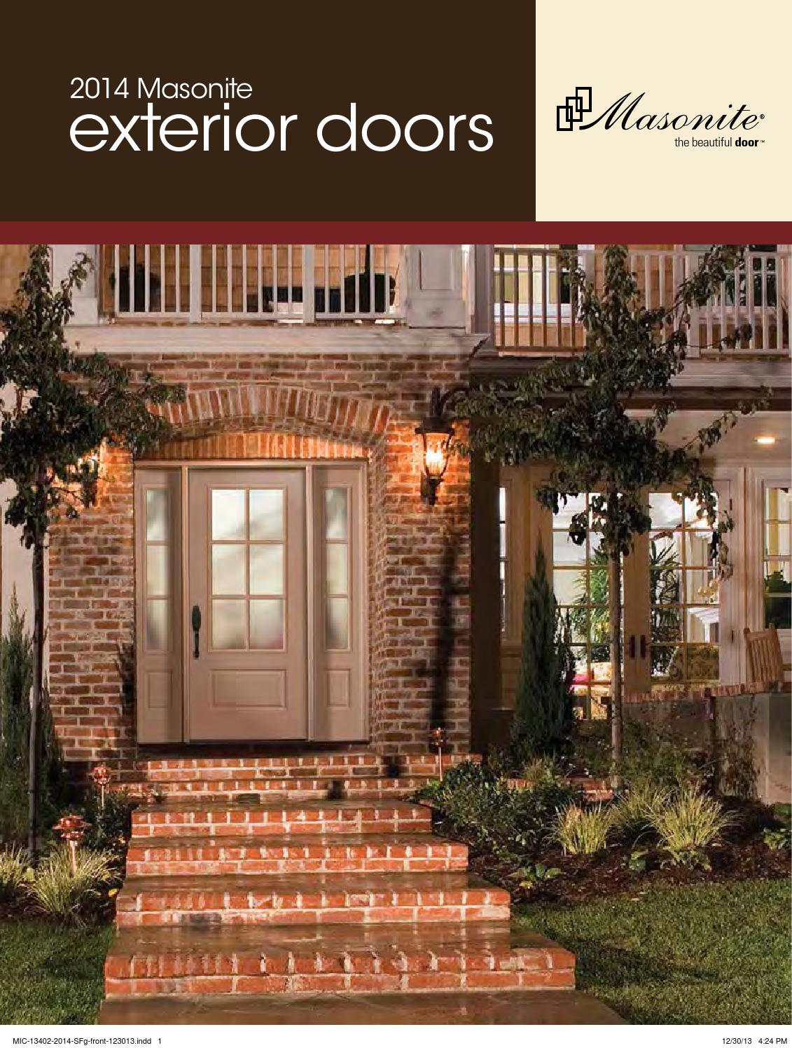 1496 #A74924 2014 Masonite Exterior Door Catalog By Meek Lumber Company Issuu picture/photo Exterior Fiberglass Doors 39991131