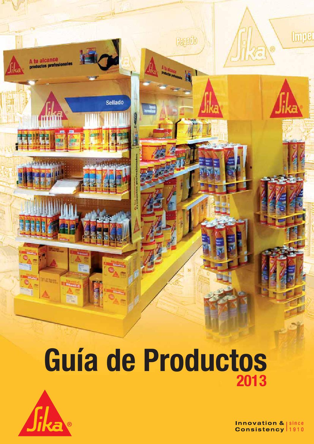 Guia de productos sika 2013 by ferreteria martinez issuu for Productos sika para piscinas