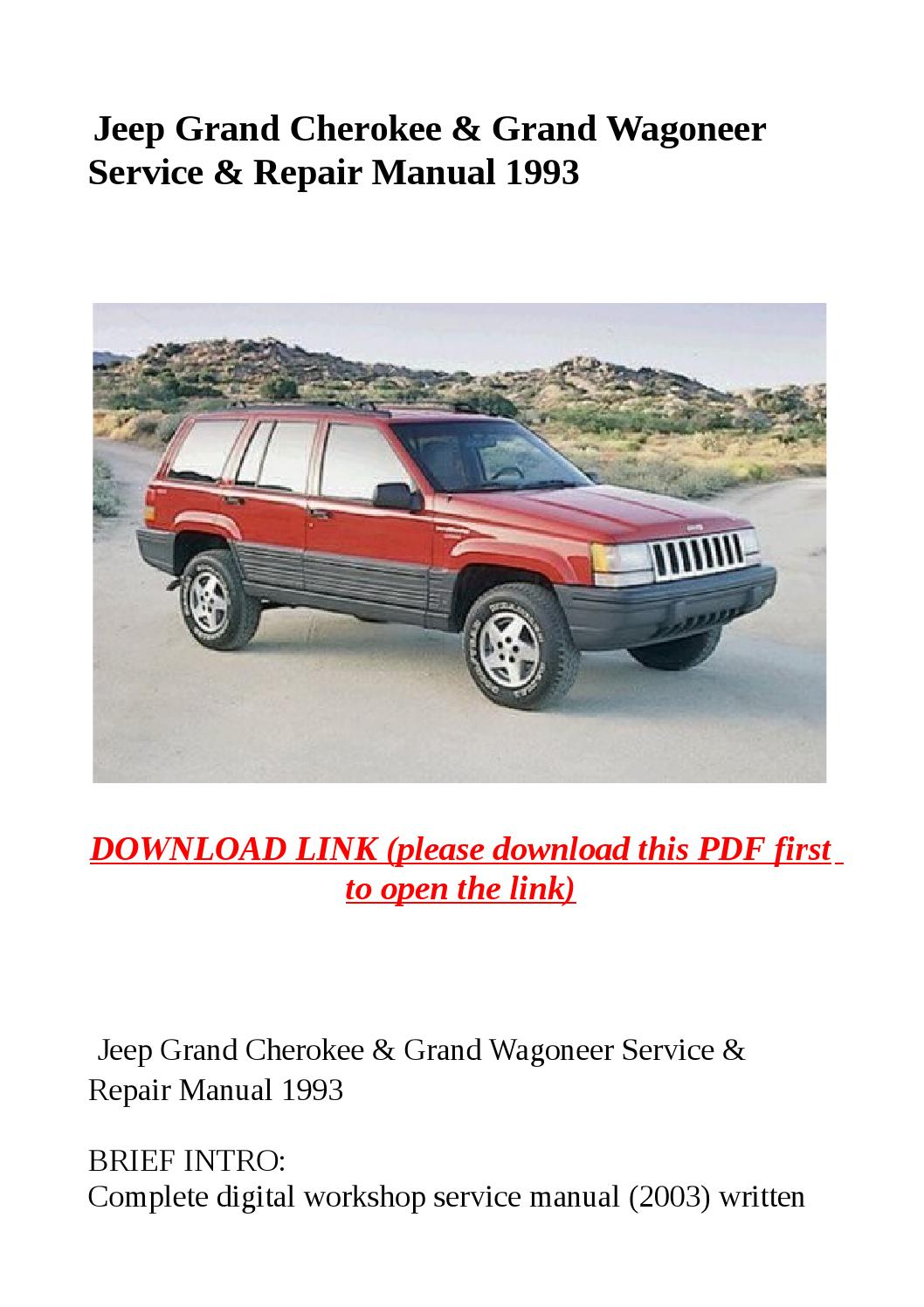 Jeep Grand Cherokee 1993 Manual Guide