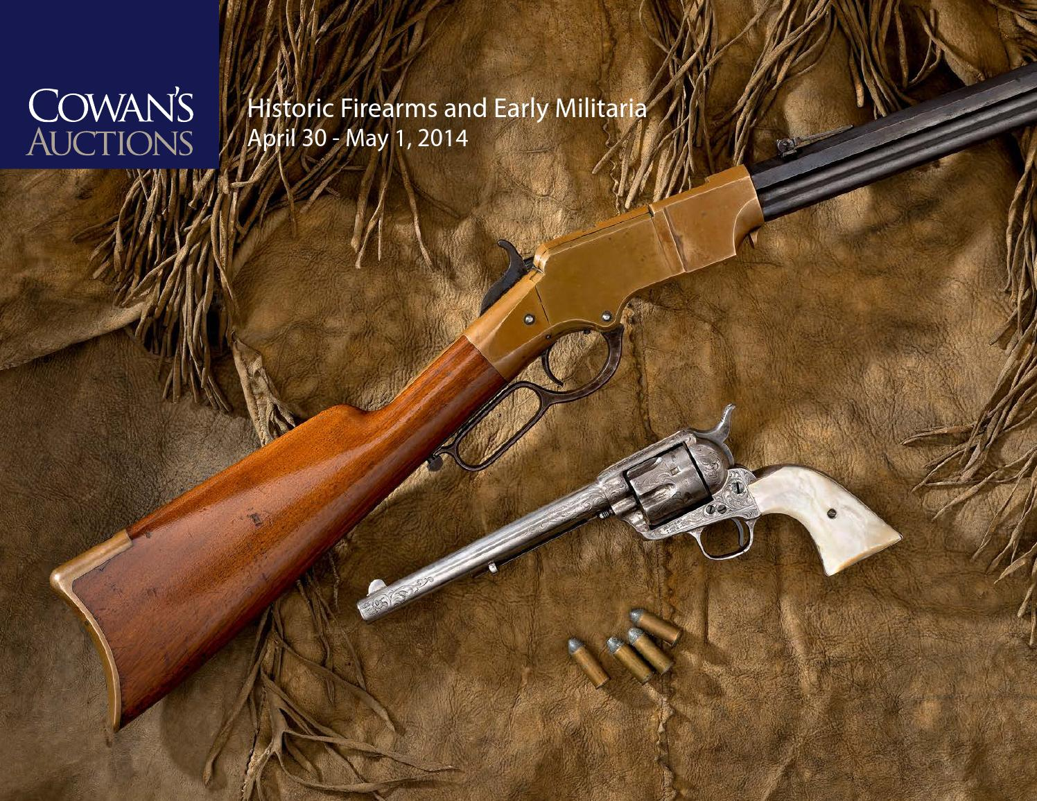 Auctions In Ohio >> Historic Firearms and Early Militaria by Cowan's Auctions ...