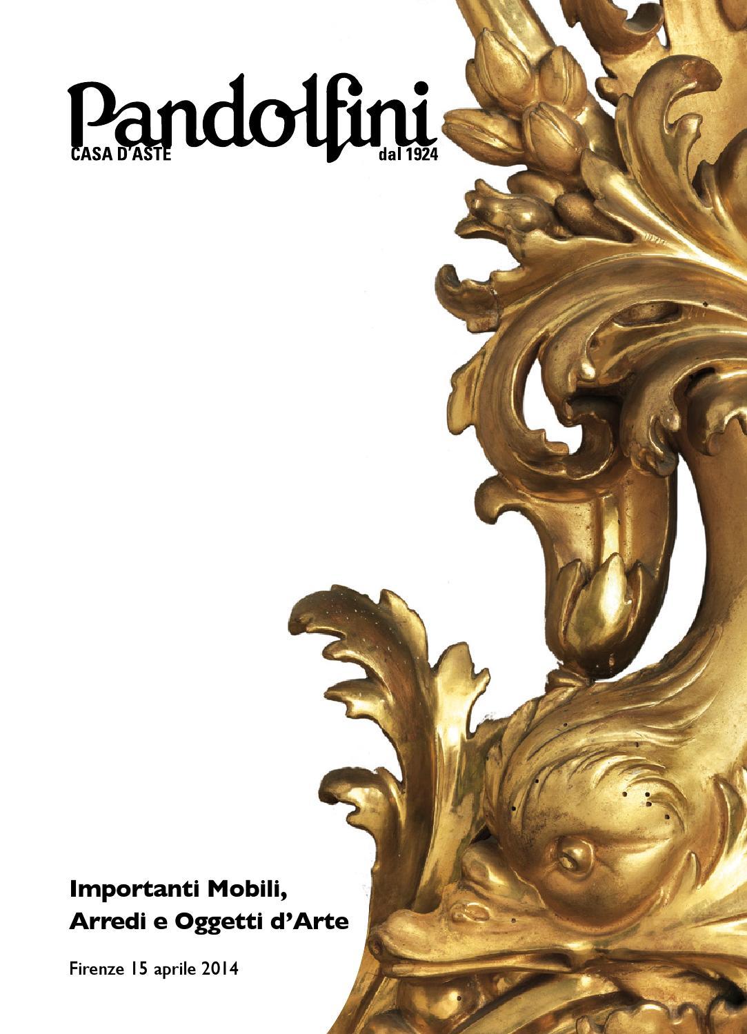 Asta di importanti mobili ed arredi antichi oggetti d for Mobili veneziani