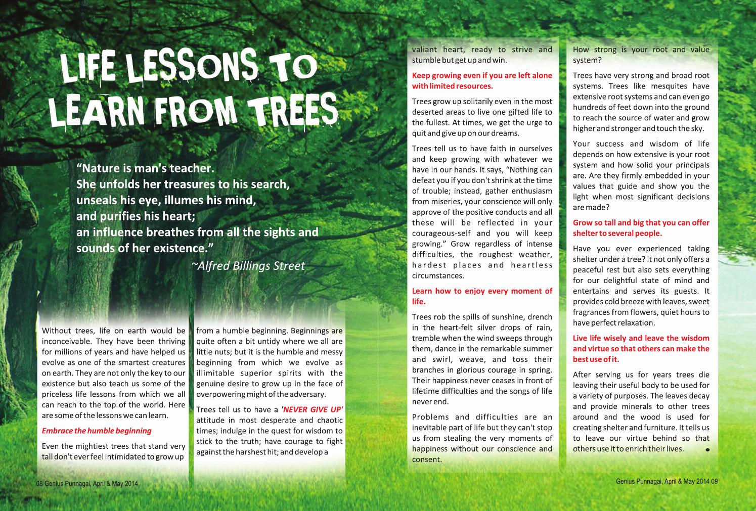 ISSUU - Life lessons to learn from trees by Punnagai Ulagam