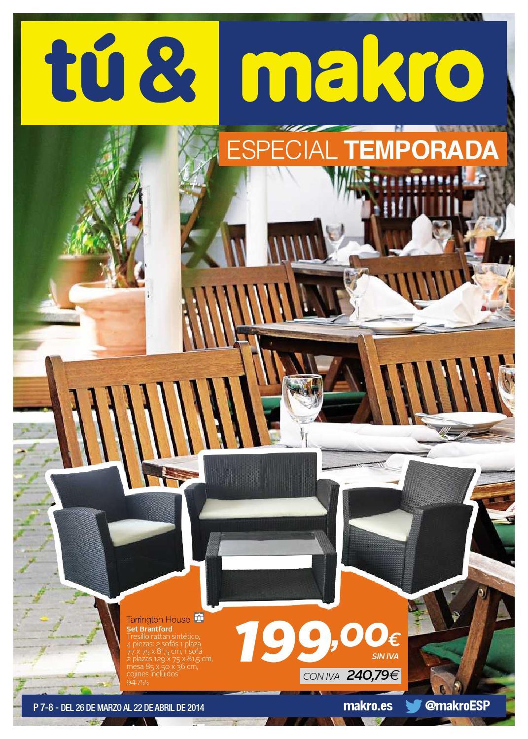 Makro espana ofertas especial temporada peninsula by for Ofertas mobiliario jardin